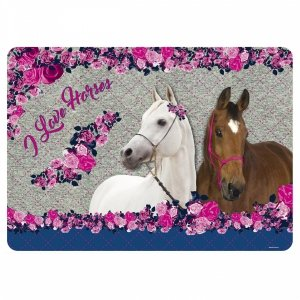 Podkładka laminowana I LOVE HORSES Konie (PLAKO03)