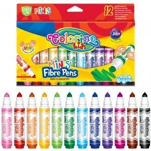 Flamastry Pisaki MINI COLORINO Kids 12 kolorów ZMYWALNE (32117)