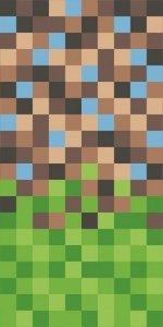 Ręcznik plażowy kąpielowy 70x140 Pixel dla fana gry MINECRAFT (WZÓR30)