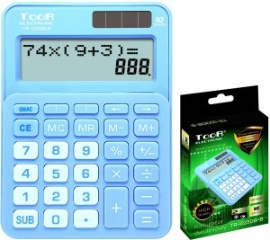 Kalkulator dwuliniowy TOOR niebieski (120-1901)