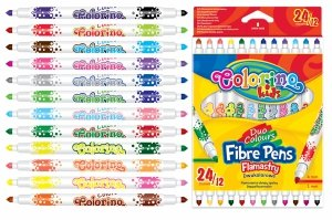 Flamastry dwustronne 24 kolory COLORINO KIDS (32353PTR)