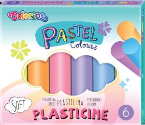Plastelina PASTEL pastelowa 6 kolorów COLORINO  (84972PTR)