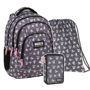 ZESTAW 3 el. Plecak szkolny młodzieżowy BackUP 26 L SZOPY (PLB3A26SET3CZ)
