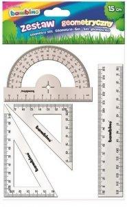 Zestaw geometryczny 4 elementy 15 cm BAMBINO mix (28573)