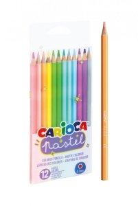 Kredki ołówkowe pastelowe CARIOCA 12 kolorów (43034)