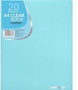 Teczka na dokumenty A4 z koszulkami Skoroszyt CoolPack PASTEL BLUE niebieska (81834CP)