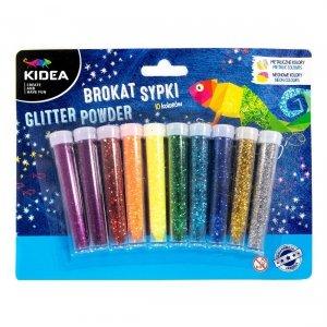 Brokat sypki 10 kolorów KIDEA metaliczny i neonowy (BS10KA)
