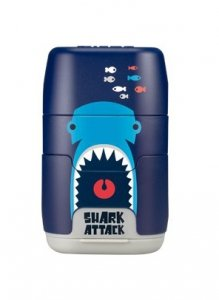 Temperówka podwójna z gumką do mazania Milan Shark Attack granatowa (4706116SRT)