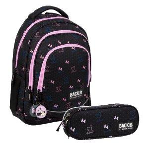 ZESTAW 2 el. Plecak szkolny młodzieżowy BackUP 26 L Myszka Minnie, MINNIE CZARNY (PLB3XMM67SET2CZ)