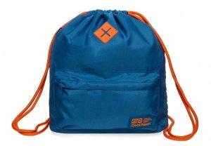 Plecak Sportowy Worek na sznurkach CoolPack URBAN niebieski z pomarańczowymi dodatkami, TEAL/ORANGE (B1301)