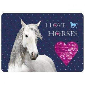 Podkładka laminowana I LOVE HORSES Konie (PLAKO07)
