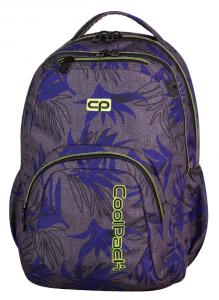 Plecak CoolPack SMASH szary w niebieskie liście, PALM LEAVES 970 (71086)