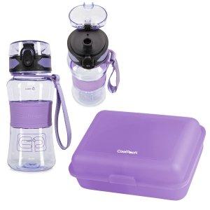 Zestaw bidon Tritanum 390 ml i śniadaniówka CoolPack FROZEN 2 fioletowy (Z03994+95143)