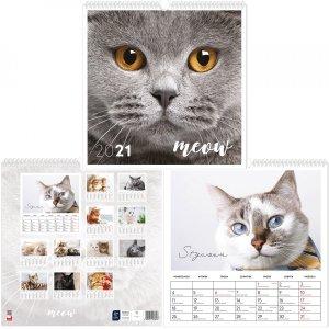Kalendarz ścienny planszowy KOTY 2021  (43843)