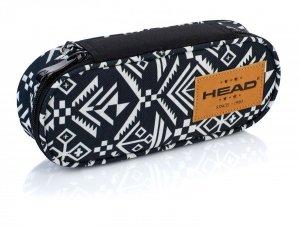 Piórnik szkolny HEAD białe i czarne wzory AZTEC (505018034)
