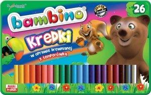 Kredki BAMBINO w oprawie drewnianej 26 kolorów w metalowym pudełku (03226)