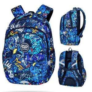 Plecak wczesnoszkolny CoolPack JERRY 21 L niebieskie wzory, GRAFITTI (D029335)