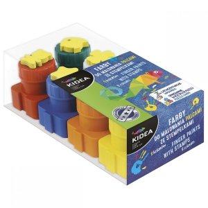 Farby do malowania palcami ze stempelkami 8 kolorów KIDEA (FDPS8KA)