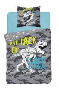 Komplet pościeli pościel świecąca w ciemności DINOSAURS Dinozaury 160 x 200 cm (3042)