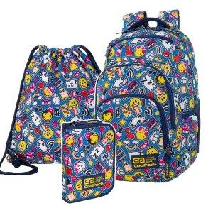 ZESTAW 3 el. Plecak CoolPack VANCE 20 L Emoji EMOTIKONY (C37142SET3CZ)