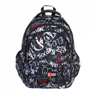 Plecak szkolny młodzieżowy ST.RIGHT SLANG GRAFFITI BP2 (38411)