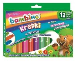 Kredki w sztyfcie BAMBINO 12 kolorów (28672)