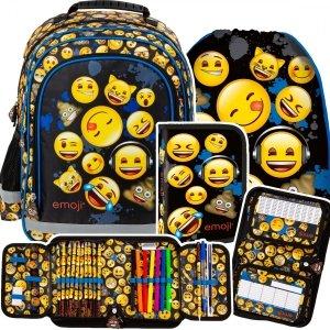 ZESTAW 3 el. Plecak szkolny Emoji EMOTIKONY (PL15BEM12SET3CZ)