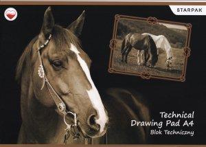 Blok techniczny A4 HORSES Konie (299164)