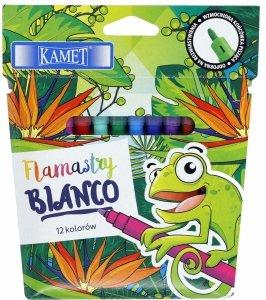 Pisaki zmywalne flamastry BIANCO 12 kolorów KAMET (04026)