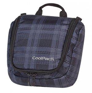 Kosmetyczka CoolPack TRAVEL czarny w szarą kratkę DERBY 376 (63029)
