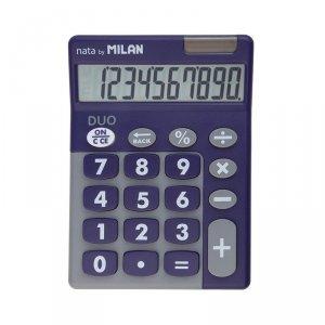 Kalkulator 10 pozycyjny Touch Duo fioletowy Milan (150610TDPRBL)