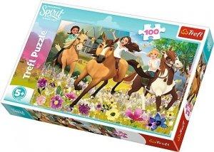TREFL Puzzle 100 el. Podążaj za marzeniami, Spirit Riding Free (16362)