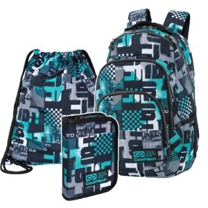 ZESTAW 3 el. Plecak CoolPack VANCE 20 L District (C37143SET3CZ)