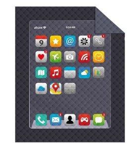 Narzuta dziecięca na łóżko IPHONE smartfon 170 x 210 cm (K039)