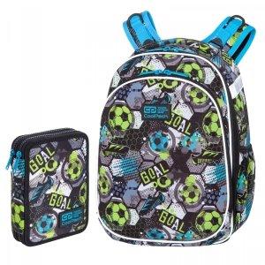 ZESTAW 2 el. Tornister Plecak CoolPack TURTLE  25 L piłka nożna, FOOTBALL (C15230SET2CZ)