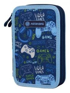 Piórnik dwukomorowy bez wyposażenia ASTRABAG gra, GAME GO (503021025)