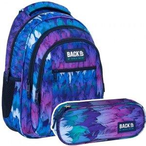 ZESTAW 2 el. Plecak szkolny młodzieżowy BackUP 26 L PIÓRA (PLB4O28SET2CZ)