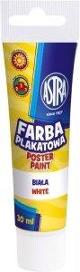 Farba plakatowa w tubie 30 ml biała ASTRA (83110904)