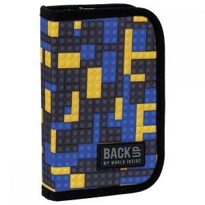 Piórnik jednokomorowy bez wyposażenia BackUP klocki, BRICKS (PB3S52)