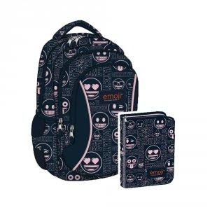 ZESTAW 2 el. Plecak wczesnoszkolny ST.RIGHT w Emoji Pink EMOTIKONY BP26 (07419SET2CZ)