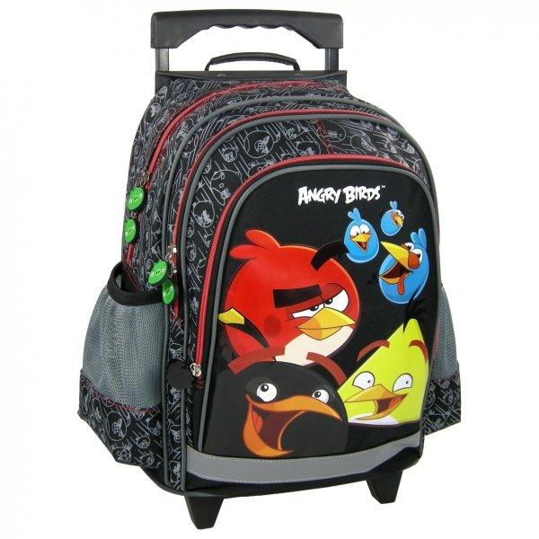 ZESTAW Plecak szkolny na kółkach ANGRY BIRDS (PL15KAB10)