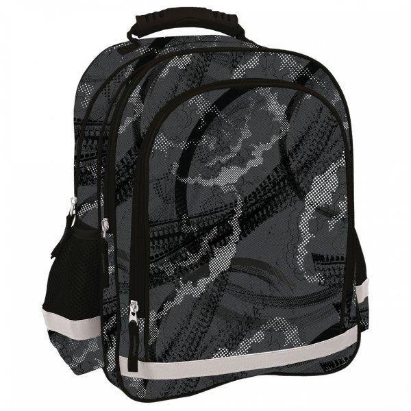 Plecak szkolny w szare wzory GREY TRAIL (PL15BDF12)