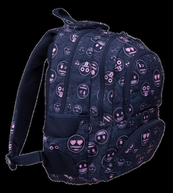 Plecak szkolny młodzieżowy ST.RIGHT Emoji Pink EMOTIKONY BP7 (07334)