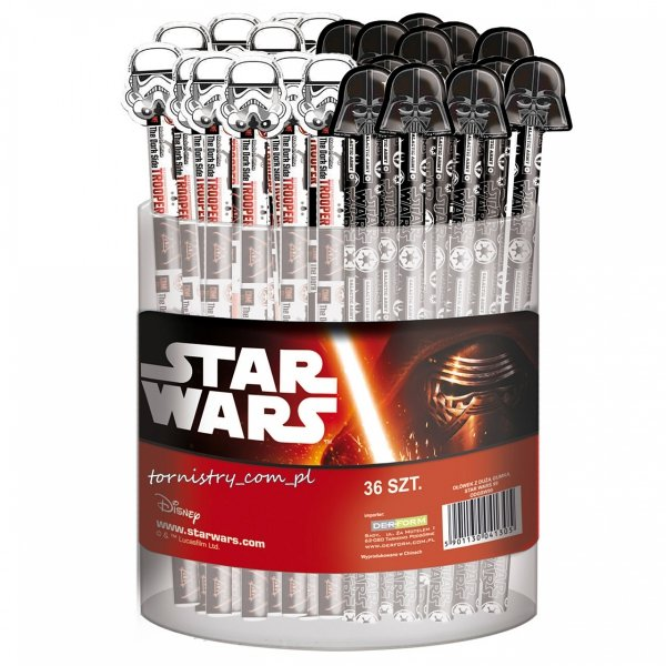 Ołówek z dużą gumką STAR WARS Darth Vader (ODGSW99)