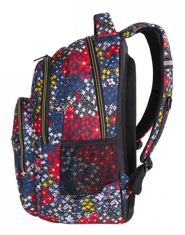 Plecak CoolPack BASIC PLUS kolorowe kwiatki na granatowym tle, SUMMER MEADOW (84611CP)