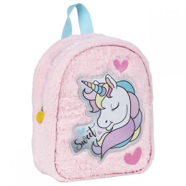 Plecak przedszkolny pluszowy UNICORN Jednorożec wycieczkowy (PLP10JR11)