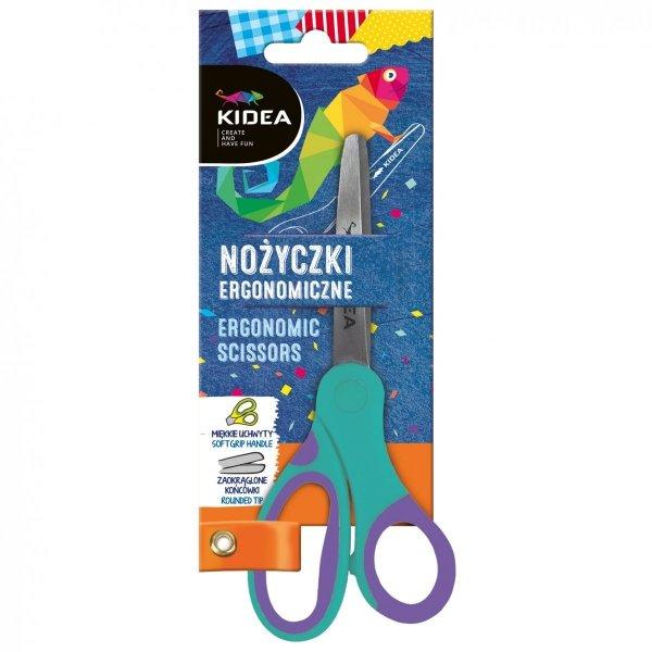 Nożyczki szkolne ergonomiczne KIDEA (NOEKA)