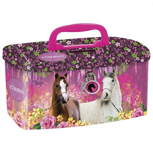 Skarbonka kuferek I LOVE HORSES Konie (SKUKO15)
