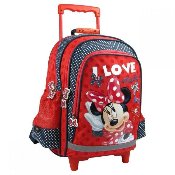 Plecak szkolny na kółkach Myszka Minnie, licencja Disney (PL15KMM12)
