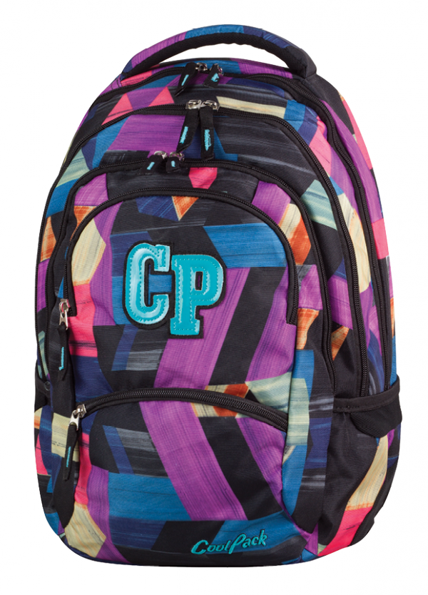Plecak CoolPack COLLEGE 2 w kolorowe paski, COLOR STROKES 672 (77972)